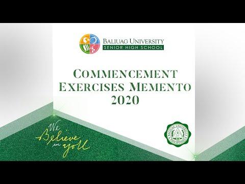 Baliuag University Senior High School 2020 Graduation Memento