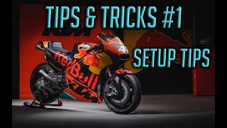 Motogp 17 Tips & Tricks #1 - How to Setup a bike