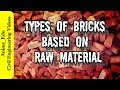 Different Types of Bricks Based on Raw Materials// Classification of Bricks //