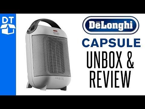DeLonghi Capsule Ceramic Fan Heater 1800W Review & Unboxing