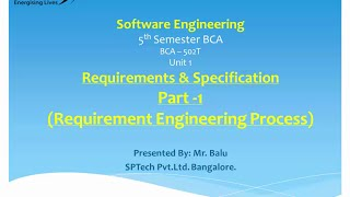 Introduction to Software Engineering - Requirements Engineering Process, Part I