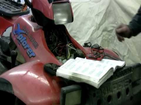 2008 Polaris Sportsman 500 Wiring Diagram Problem With All Wheel Drive On Polaris Xplorer Youtube