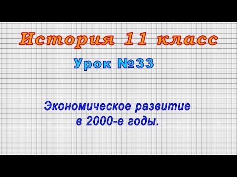 История 11 класс (Урок№33 - Экономическое развитие в 2000-е годы.)