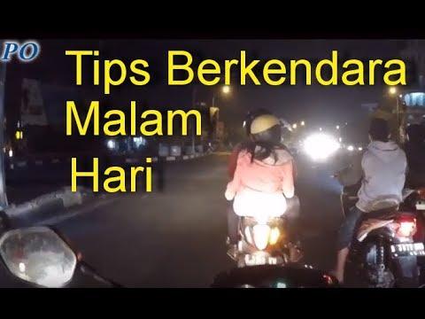 Tips Berkendara Malam Hari Menggunakan Motor