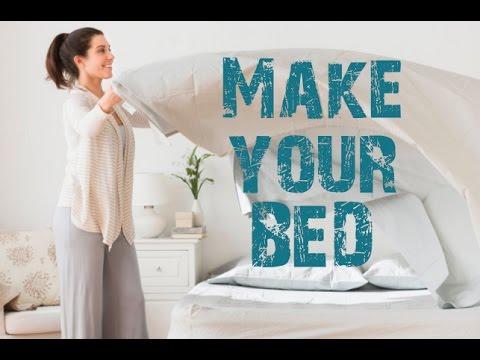 как легко заправить постель,смотреть всем!