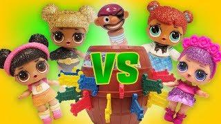 LOL Surprise Dolls Play Pop Up Pirate! Featuring Sugar Queen, Queen B, Teachers Pet, and Hoops!