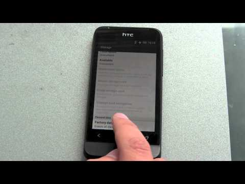 How to reset your Android Phone - HTC ONE V