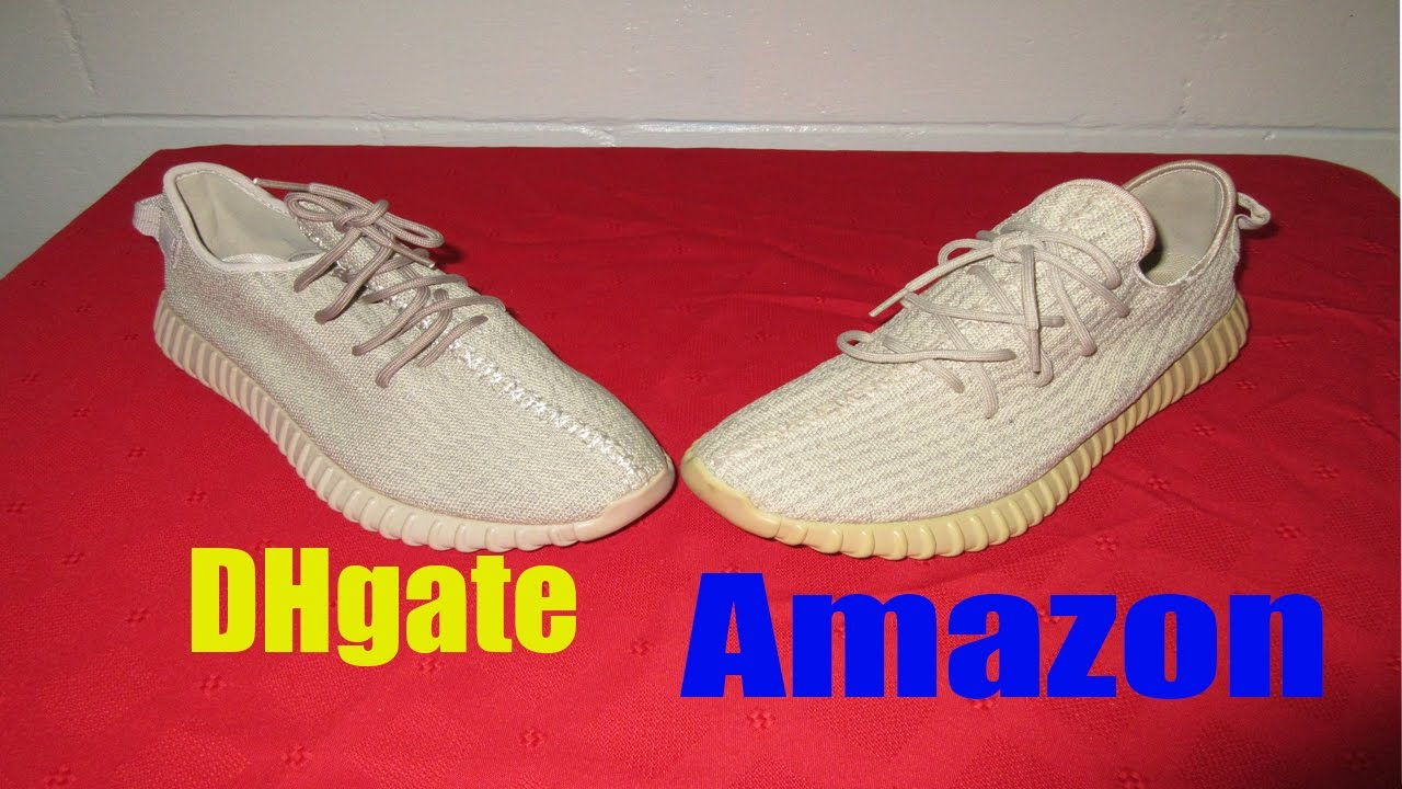 e224a30b65ddb Dhgate FAKE yeezy boost 350 oxford tan vs Amazon yeezy boost 350 ...