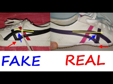 Onitsuka Tiger Asics real vs fake review, How to spot counterfeit Onitsuka tiger trainers.