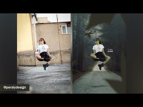 Levitando | Composición Avanzada + Cambio de Fondo con Photoshop [Tutorial de Photoshop] thumbnail