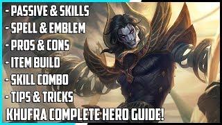 New Hero Khufra Complete Guide! Best Build, Spells, Skill Combo, Tips & Tricks | Mobile Legends
