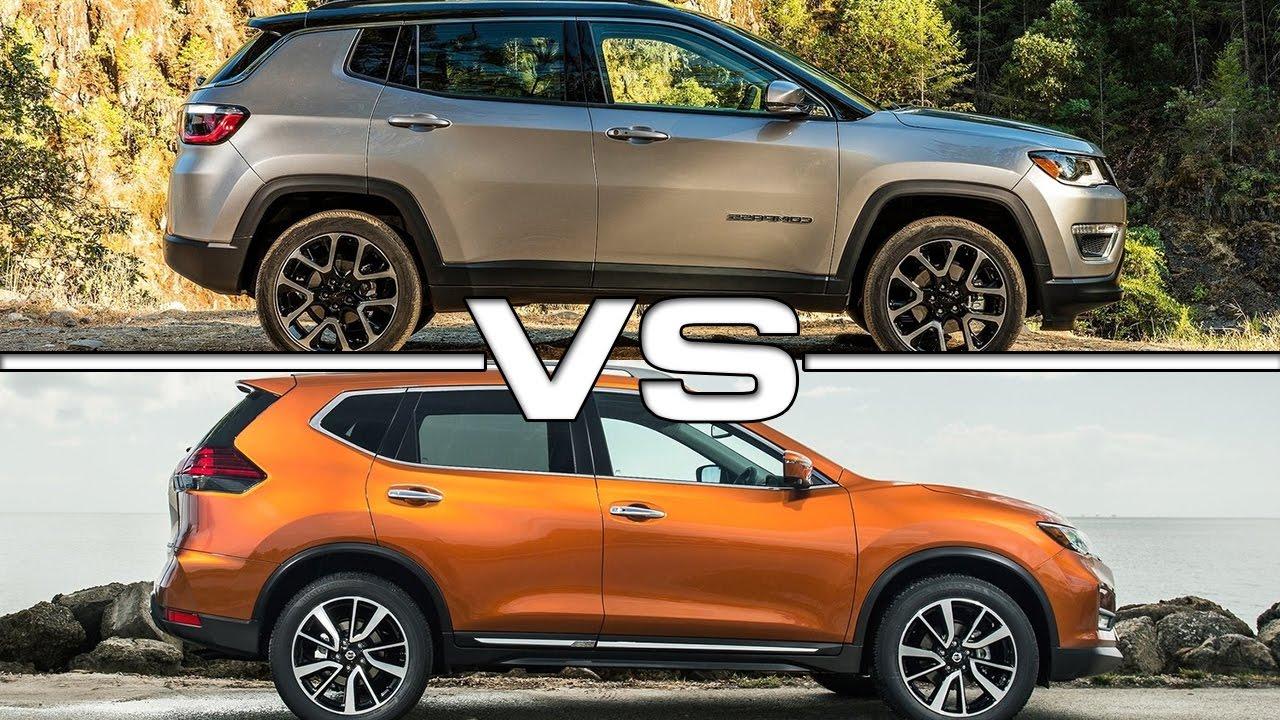 2017 Jeep Compass vs 2017 Nissan Rogue - YouTube