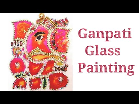 Glass Painting (ganpati ji)
