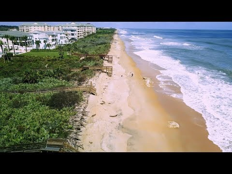 Ocean Hammock beach after Hurricane Irma – Aerial 4K – DJI Mavic Pro Drone