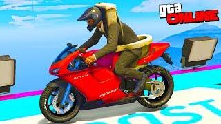ТУАЛЕТНЫЙ ЧЕЛОВЕК ПРОХОДИТ СЛОЖНЫЙ СКИЛЛ ТЕСТ! (Гонки на Мотоциклах в GTA 5)