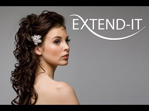 bridal updo with extend