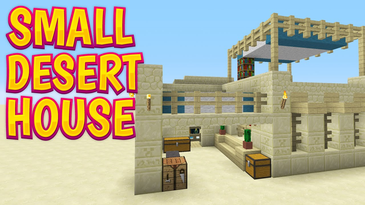 Minecraft Design Showcase Small Desert House Youtube