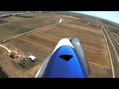 Landing Gracia - First Person View RC Plane landing through the onboard camera.