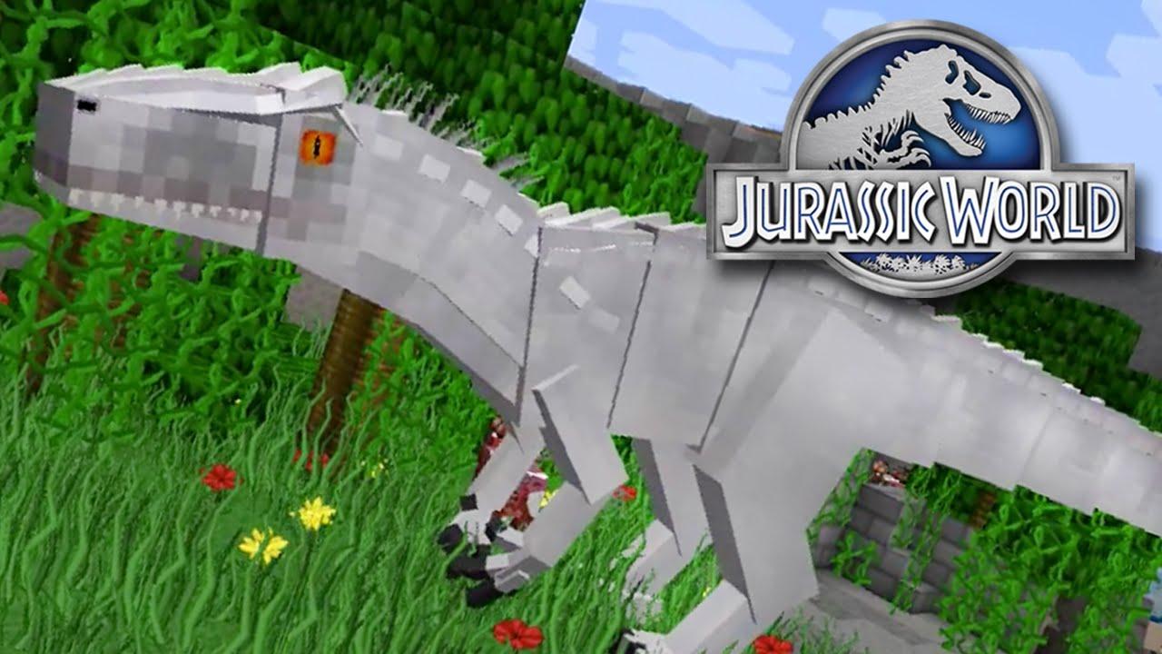 Indominus Rex Minecraft Jurassicraft YouTube - Minecraft dinosaurier spiele