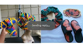 Ruralafricanshop Satin lined hair bonnet and eye mask Collaboration with Beautarie