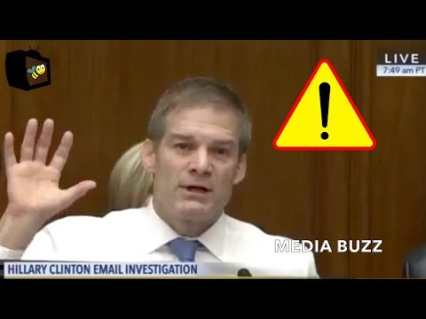 Jim Jordan Confronts James Comey About His Own Friends Saying They Would Prosecute Hillary Clinton!