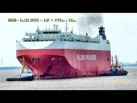 TALIA C6VJ6 IMO 9311854 car carrier Wallenius Willemsen Autotransporter tugs Schlepper Emden typhon
