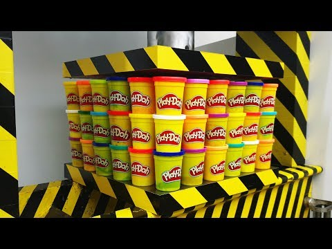 EXPERIMENT HYDRAULIC PRESS 100 TON vs 100 Play Doh