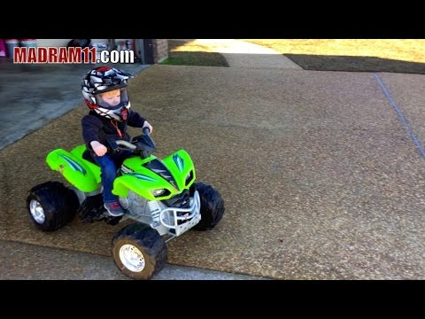 2 YEAR OLD LOVES HIS 24 VOLT POWER WHEELS
