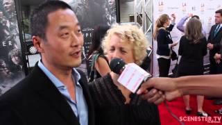 Actor Steve Park & Kelly Park at SNOWPIERCER movie premiere at LA Film Fest 2014!