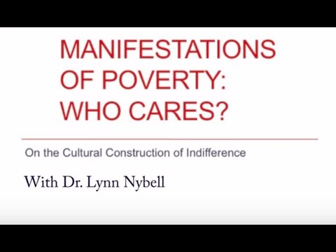 Manifestations of Poverty Who Cares