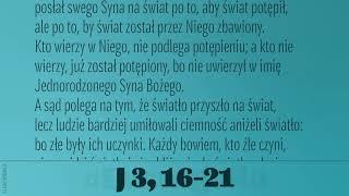 #Ewangelia   1 maja 2019   (J 3, 16-21)