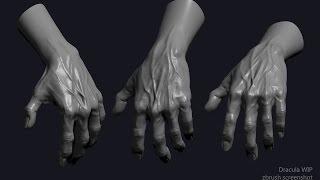 Dracula: Hand (Zbrush Timelapse)