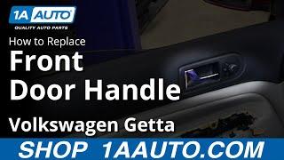 How To Remove Install Inside Door Handle 2000-05 VW Volkswagen Jetta