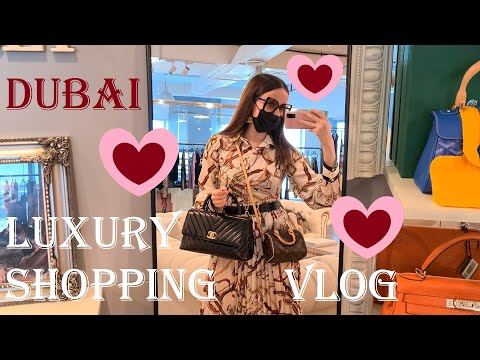 DUBAI LUXURY SHOPPING VLOG 2021 - Come Shopping With Me at Harrods, Dior, Chanel & Louis Vuitton