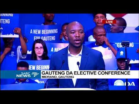 DA leader Maimane addresses Gauteng elctive conference