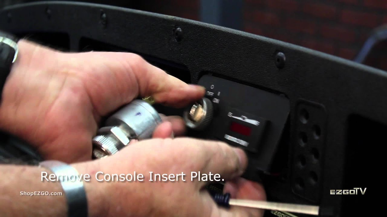 How to Install an E-Z-GO Ignition Switch - YouTube Joyner Starter Switch Wire Diagram on starter switch wiring diagram, latching push button wire diagram, 110cc wire harness diagram,