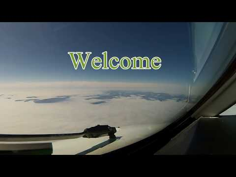 FAROE ISLANDS Pilots view AMAZING GoPro COCKPIT Visual Approach Runway 12 the fjord !