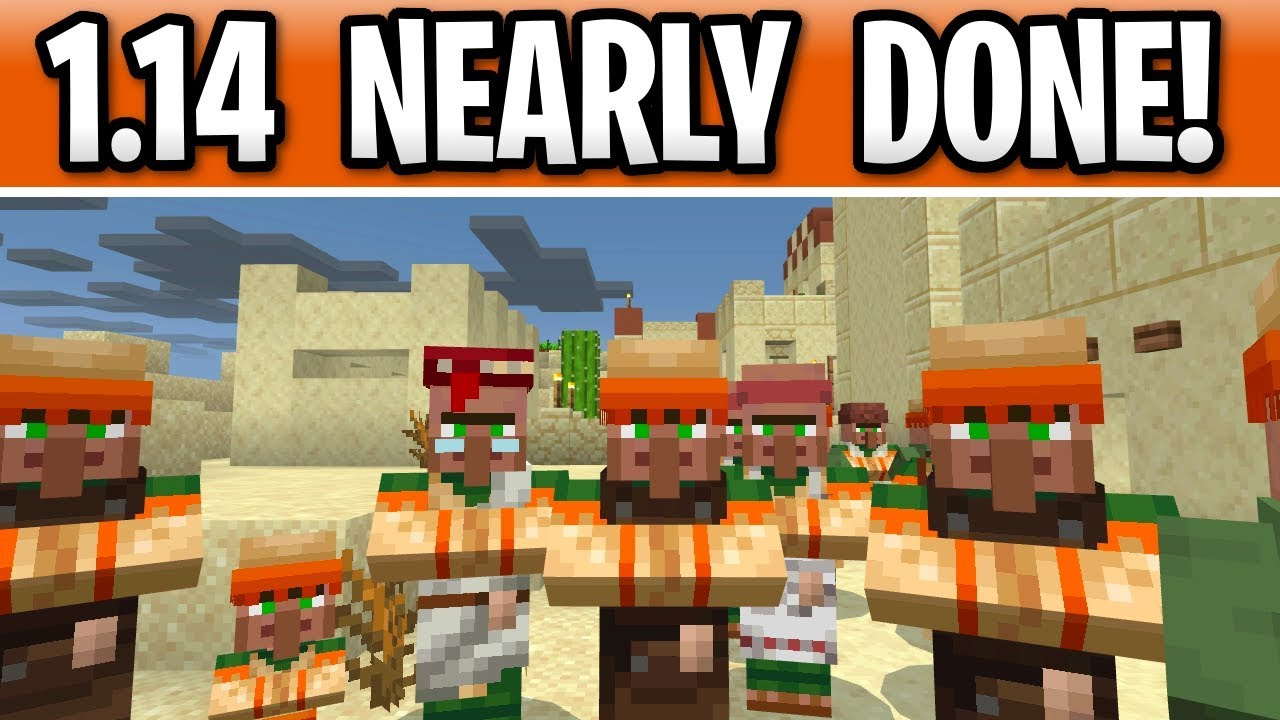 Minecraft 1.14 NEARLY DONE! New Snapshot 19W11A Villager ...