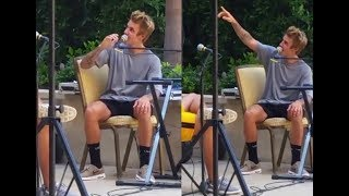 Download Video Justin Bieber singing What Do You Mean at Montage hotel in Beverly Hills - September 16, 2017 MP3 3GP MP4
