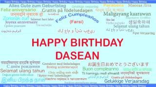 DaSean   Languages Idiomas - Happy Birthday