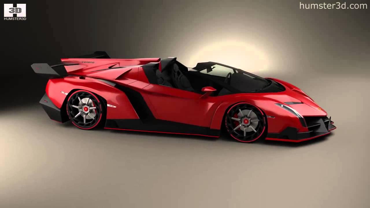Free Download Free Green Lambo: Lamborghini Veneno Roadster 2014 By 3D Model Store