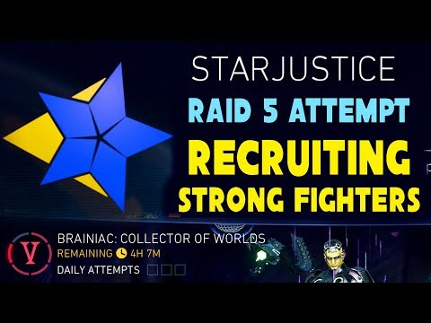Injustice 2 Mobile LIVE STREAM. Join StarInSky Leagues! Going for Raid 5 and 4. WE TRIED STAGE 5!