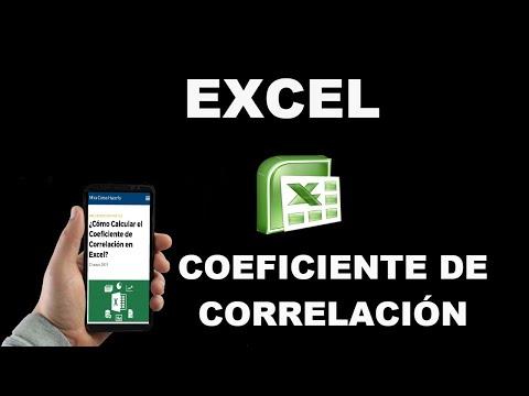 ¿Cómo Calcular el Coeficiente de Correlación en Excel?