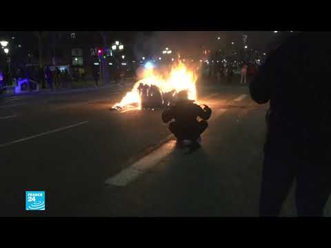 إسبانيا: أعمال عنف في الليلة الخامسة من المظاهرات المستمرة احتجاجا على سجن مغني راب  - 10:59-2021 / 2 / 21