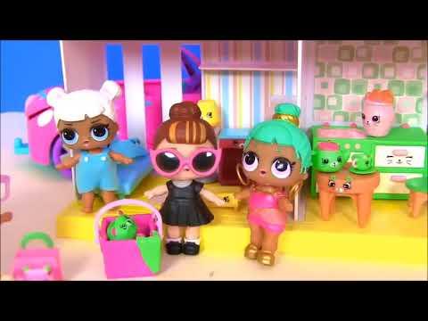 Куклы Лол Мультик! Сюрпризы Шопкинс на завтрак для Lol Surprise Doll Видео для детей