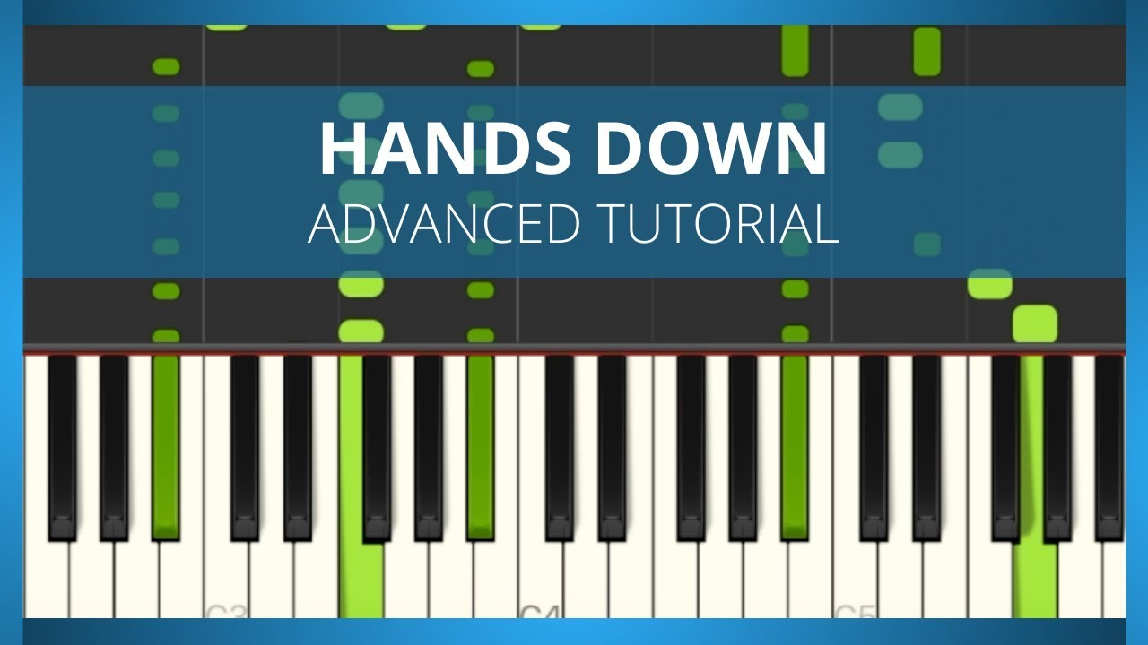 💚 Hands Down Dashboard Confessional Piano Tutorial ADVANCED