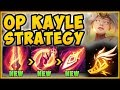 STOP PLAYING NEW KAYLE WRONG! FLEET FOOTWORK KAYLE IS 100% OP STRATEGY! KAYLE S9 - League of Legends