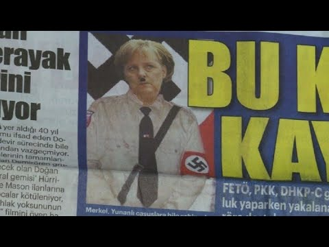 Turkish daily depicts Merkel as Hitler on front page