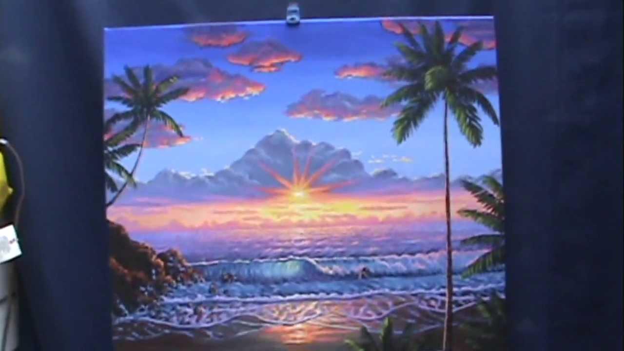 Come dipingere il tramonto sulla spiaggia con acrilico