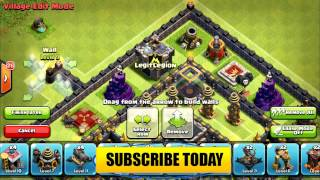 CLASH OF CLANS TH9 troll base here come the noobs2015 base build
